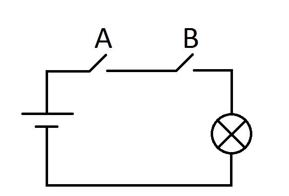 Электрический аналог конъюнкции