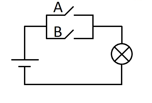 Электрический аналог дизъюнкции