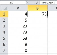 Функция МАКС Excel